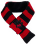 k9 scarf red/black