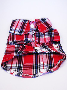 red check shirt for dogs