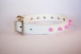 pink stud collar in white