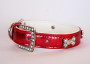 metallic collar red