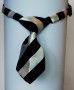 dog ties b/w stripes