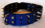 large spiked collar dark blue