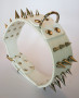 large spiked collar white