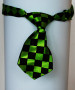 dog ties green/black checkers