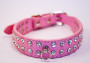 rhinestone collar in pink