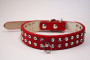 rhinestone collar in red