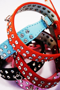 rhinestone collars various colours