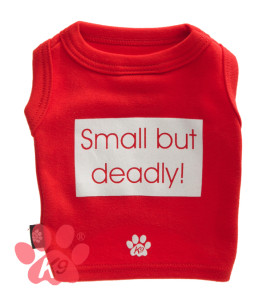 K9 Small But Deadly Tee Red
