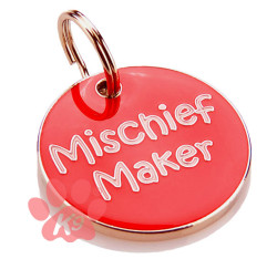 Mischief Maker Collar Charm / id Tag by K9