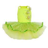 puppy angel neon lime tutu