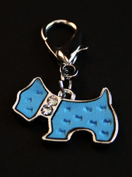 blue dog collar charm